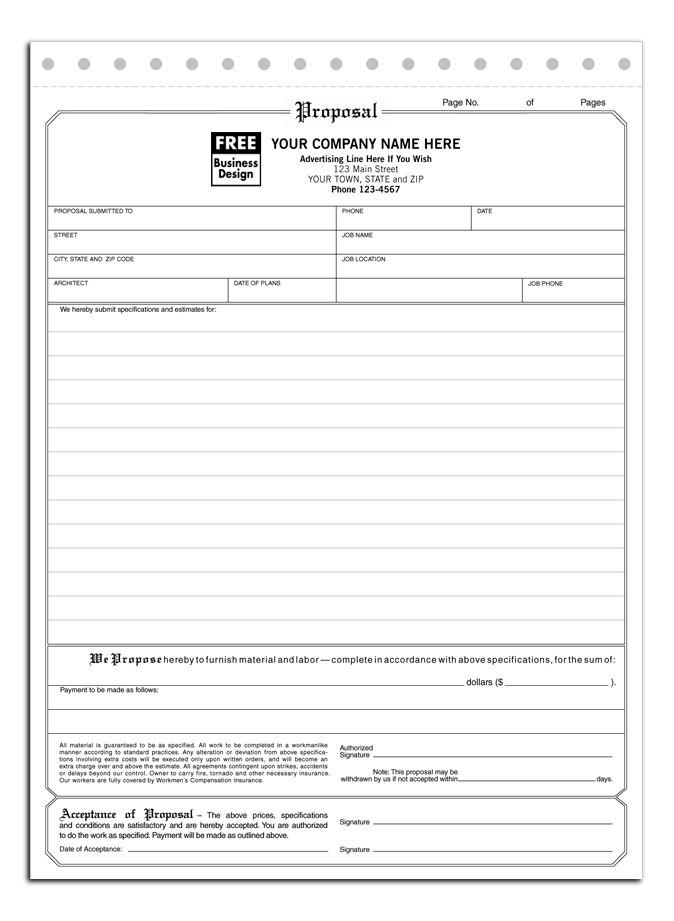 9 best Contractor Forms images on Pinterest Construction bids - proposal form template
