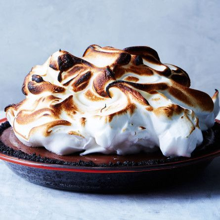 No-Bake Chocolate Cream Pie with Toasted Meringue Recipe