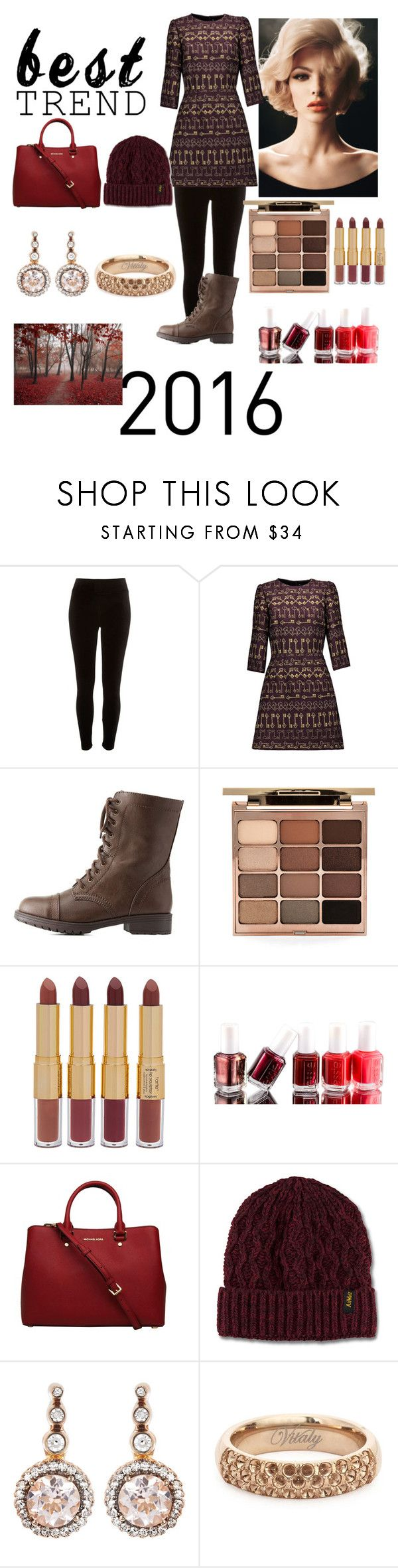 """Fall"" by unitaiyo ❤ liked on Polyvore featuring River Island, Dolce&Gabbana, Charlotte Russe, Stila, tarte, Essie, Dr. Martens and Selim Mouzannar"