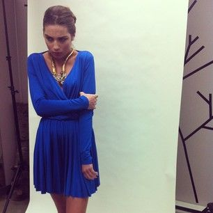 Stunning Belinda from Elite for @allysandracervantes, our romper paired with a necklace from @theblackboxboutique