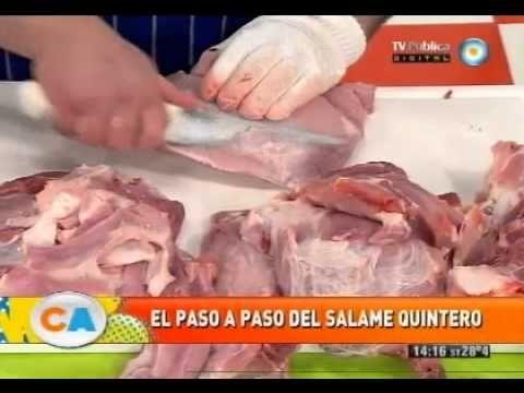 Salame quintero artesanal para la picada de los domingos (Parte 1) - YouTube
