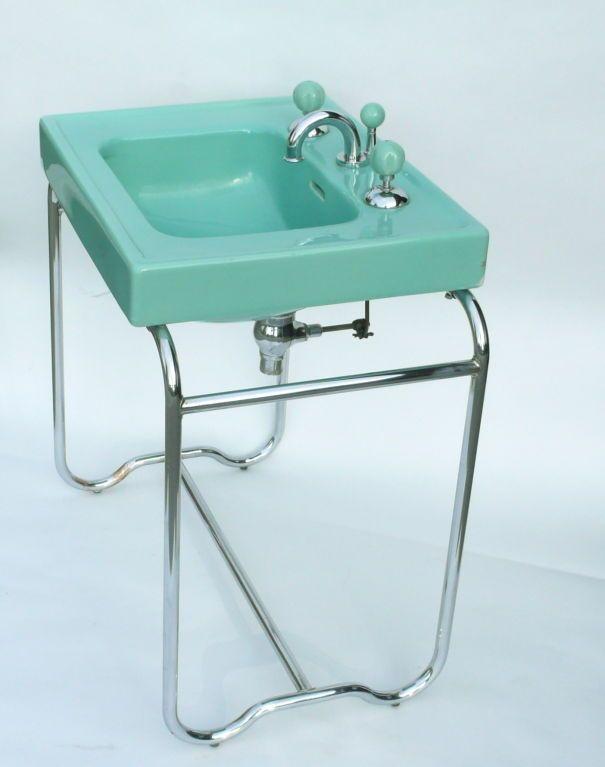 1933 Streamline Art Deco Sink By George Sakier