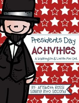 Here are a few fun activities to use on President's Day for Abraham Lincoln and George Washington! This unit includes:  1) reading passages about Lincoln and Washington  2) two fill in the blank activities for Lincoln and Washington 3) graphic organizer on what is a president 4) comprehension quiz on the president and executive branch of government 5) president timelines 6) ABC orders 7) flip books 8) graphic organizers 9) themed writing papers 10) word sorts  11) comparison activities 12)…
