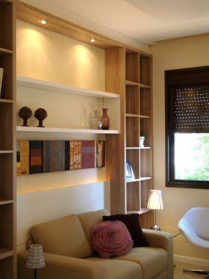 inspiração: salas pequenas - estantes