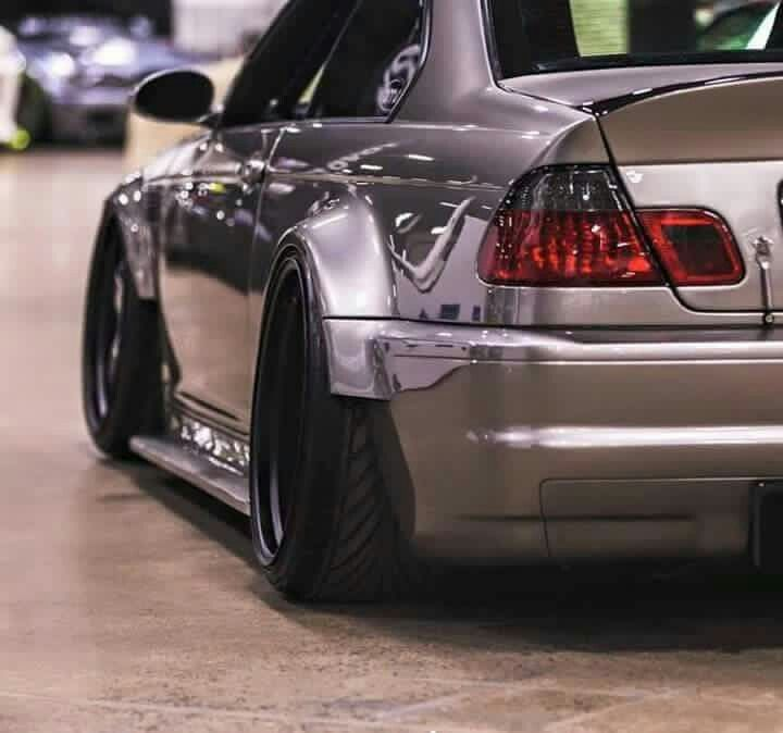 BMW E46 M3 grey widebody