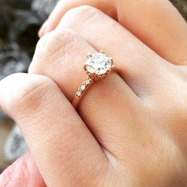 A Valentine Proposal The Hazeline solitaire, with a stunning 100+ year old diamond inherited from her grandmother, was the perfect combination of vintage and vintage inspired for Kelsey's Heirloom-To-Be!