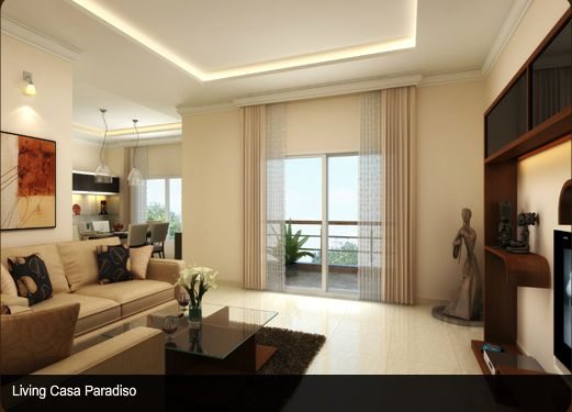 Sobha City Bangalore - Model Apartment Pictures - Living Room