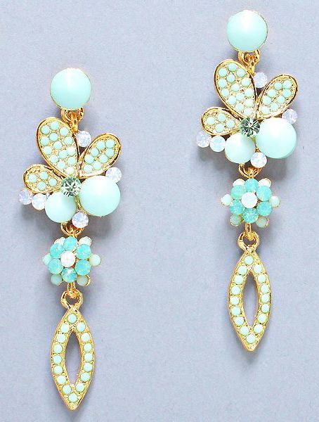 Madeline Earrings in Turquoise Mint