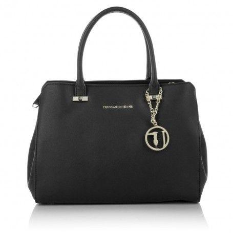 Trussardi Jeans Tasche – Tote Bag Black – in schwarz – Henkeltasche für Damen