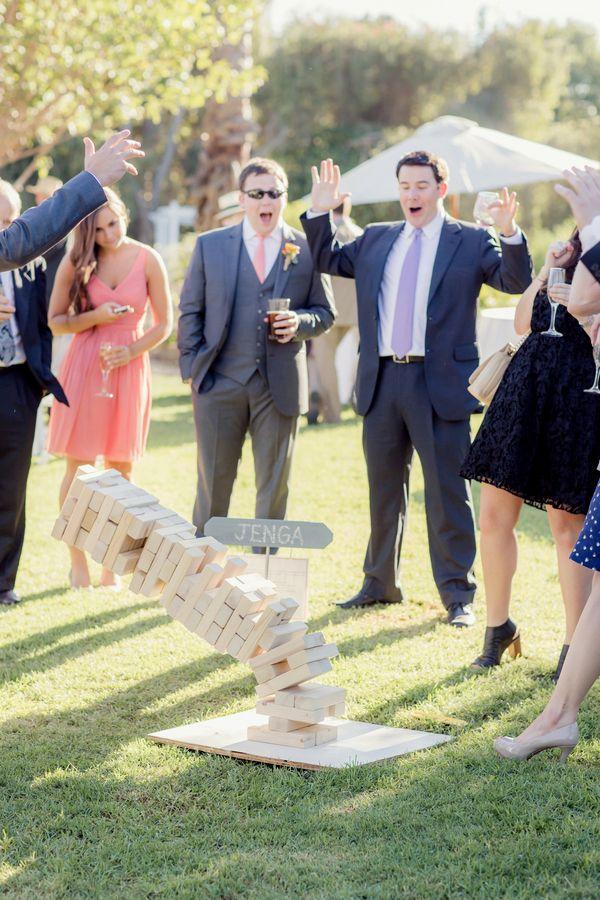 Best 25 giant jenga wedding games ideas on pinterest jenga coral and green botanical garden wedding junglespirit Image collections