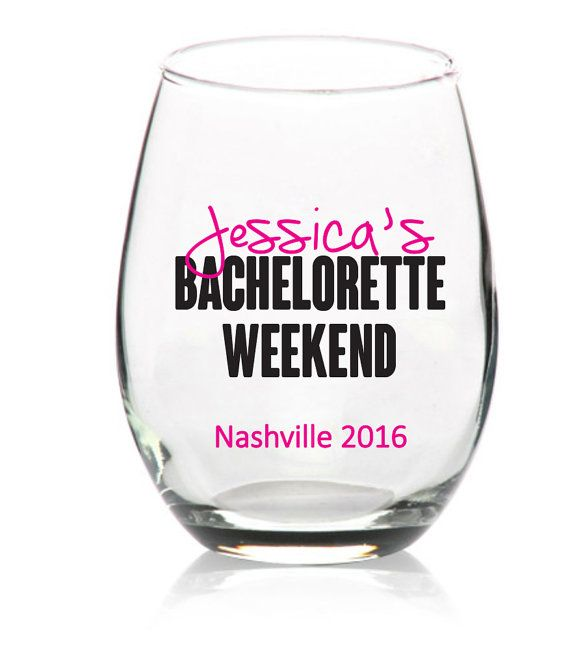 Bachelorette decal for bachelorette weekend party wine glass or tumbler girls weekend birthday family reunions free customization