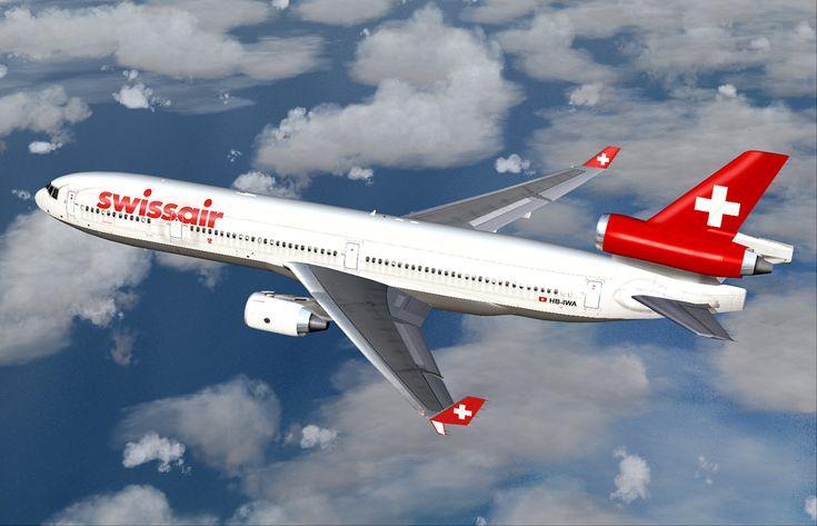Der Abflug mit dem Flugzeug MCDONNELL DOUGLAS MD-11 erfolgt pünktlich um 17.20 Uhr auf dem Airport Zürich