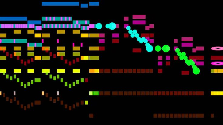 """The final movement of W. A. Mozart's 41st symphony, """"Jupiter,"""" with a graphical score. FAQ Q: Who is performing? A: I don't know. I licensed this recording f..."""