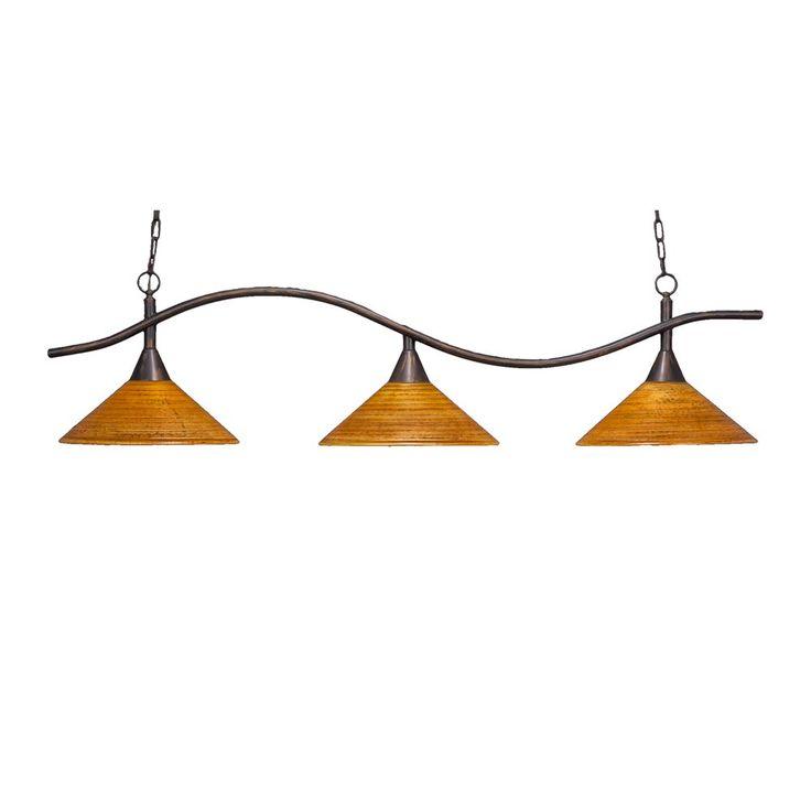 Kitchen Lighting Idea: Toltec Lighting 893 414 3 Light Swoop Billiard Bar  With 16