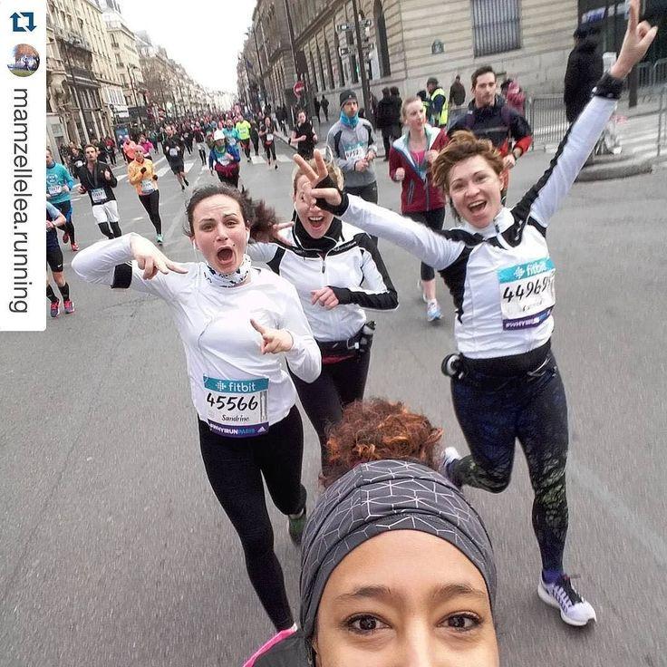 RUN #semiparis  Repost @mamzellelea.running  Les copines :) #semideparis #running #runselfie #instarunners #runningaddict by instarunners