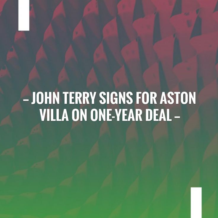 New on my blog! John Terry signs for Aston Villa on one-year deal http://sportstribunal.com/epl-news/transfers-epl/john-terry-signs-for-aston-villa-on-one-year-deal/