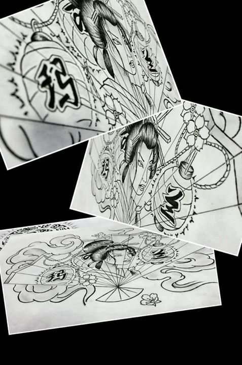 Diseño Geisha Ramses Hernandez Bolaños #geisha #japan #tattoo #ta2 #tattoos #sketch #diseño #tatuaje #japanes
