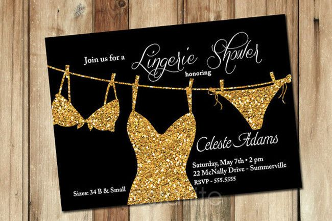 Glitter Bachelorette Party Invite