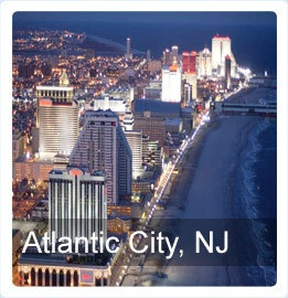The world-famous historic Atlantic City Boardwalk.  Photo Credit:	Atlantic City CVA