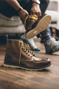 Comfort is key in a good pair of boots... Crevo's Buck Boots, feature memory foam insoles.