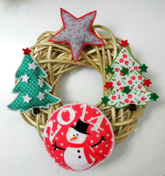 Natural Willow Wreath 2014 Christmas Themes by sesideco on Etsy, $40.00
