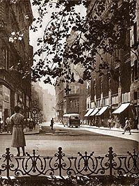 váci utca, budapest, 1950