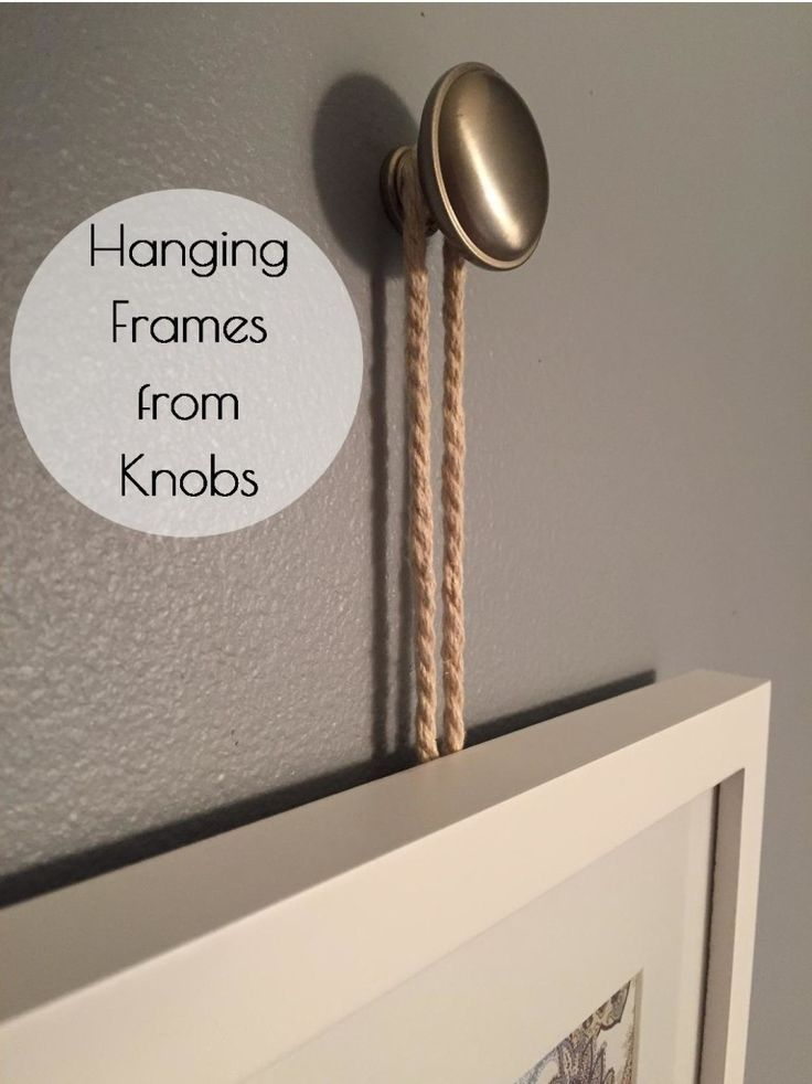 Love, love, love this idea! Hanging Frames from Knobs: A Tutorial - Lemons, Lavender, & Laundry