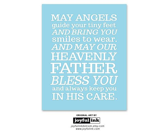 May Angels Guide Your Tiny Feet print