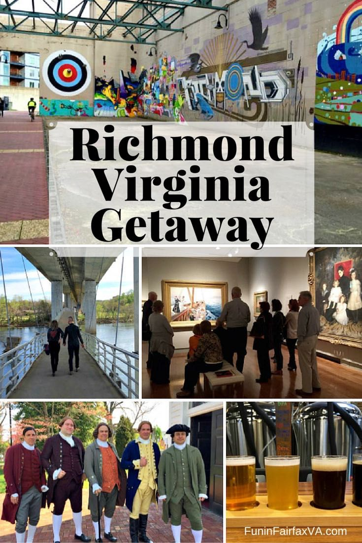 From urban hikes; to food and brews; to history, museums, and street art; it's easy to enjoy a Richmond Virginia getaway in this cool, capital city. USA