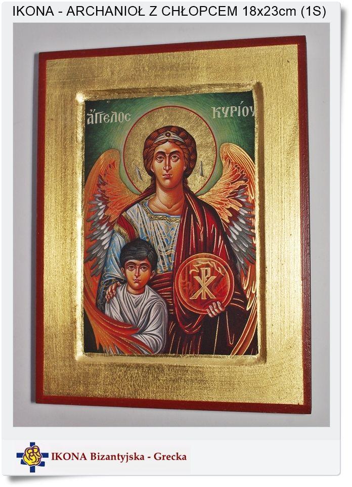 Archanioł - Anioł Stróż z Chłopcem ikona grecka