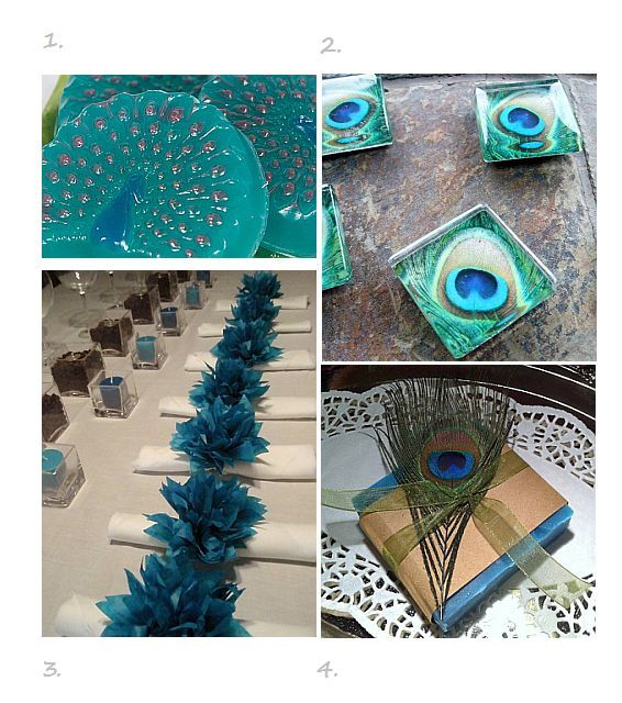 peacock colors for weddings | peacock wedding favor ideas wedding cupcakes fantastic wedding favors ...