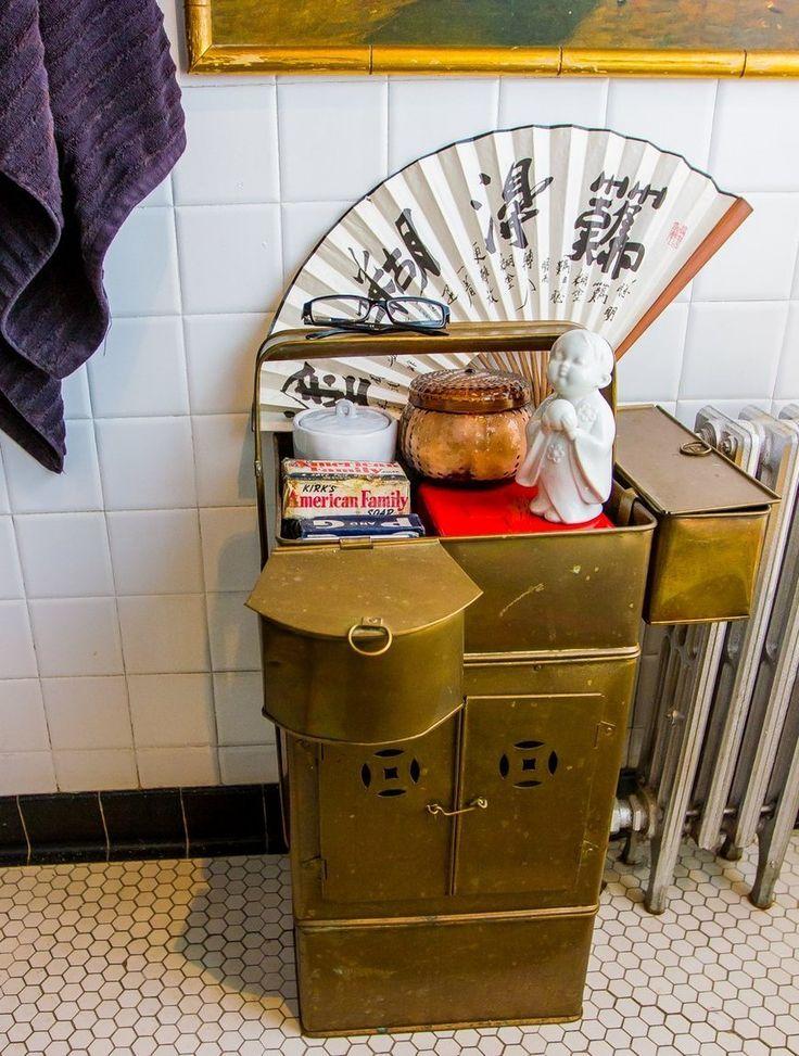 bathroom inspiration asian noodle cart laurens bright bold chicago apartment httpwww