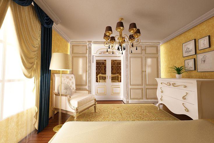 Design interior dormitor clasic casa Bucuresti.