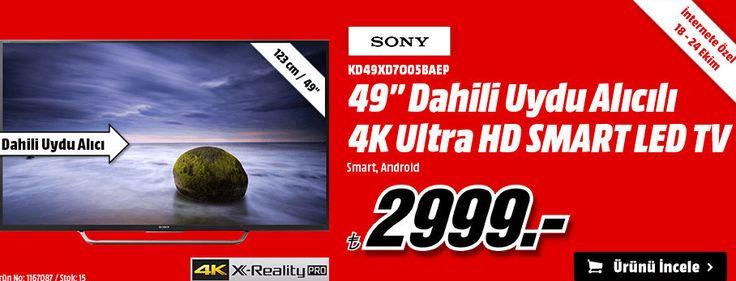 media markt, media markt sony led tv televizyon modellerinde büyük indirimleri kaçırmayın Sony KD49XD7O05BAEP 49'' Dahili Uydu Alıcı 4K Ultra HD Smart Led Tv 2999 TL Media Markt Sony KD49XD7O05BAEP 49′′ Dahili Uydu Alıcı 4K Ultra HD Smart Led Tv 2999 TL Online Alışveriş - Satın AL,