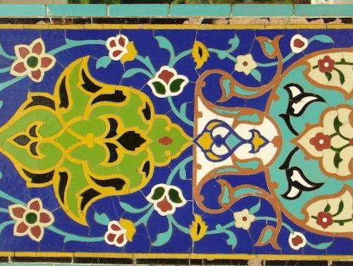 Mosaic at the Islamic Arts Museum in Kuala Lumpur, Malaysia