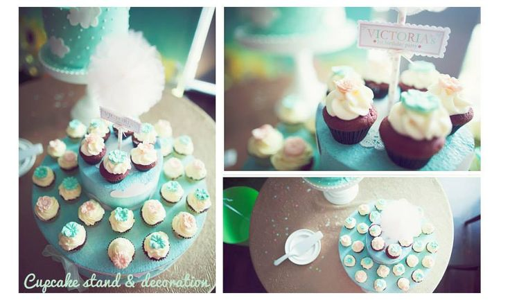 Cupcake decoration, I use styrofoam as the cupcake stands.