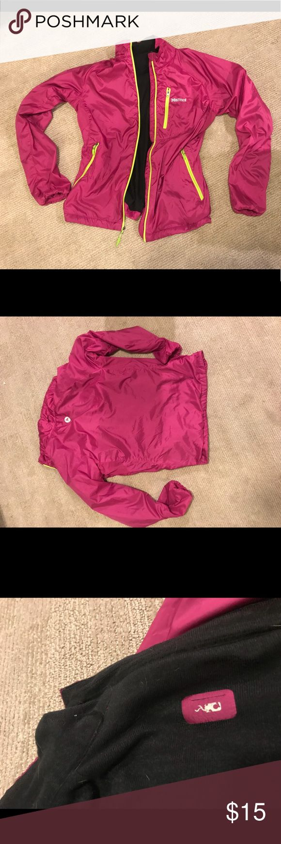 Marmot Running Jacket Lightly worn running jacket. Has pocket for Phone and home for earphones. Marmot Jackets & Coats