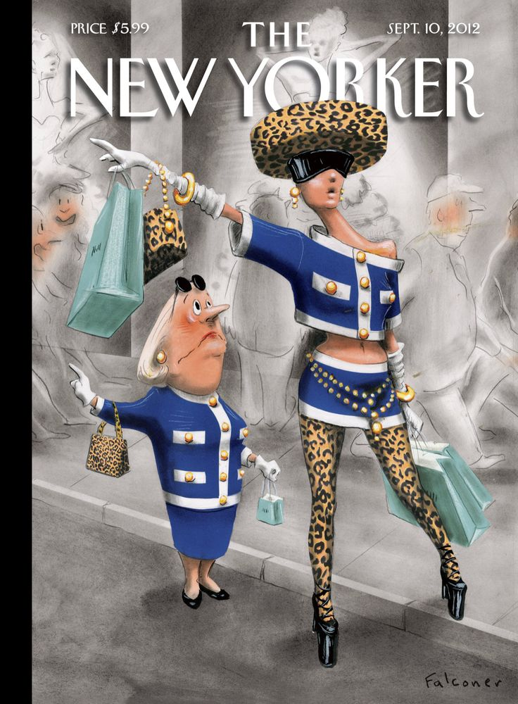 "The New Yorker - Monday, September 10, 2012 - Issue # 4465 - Vol. 88 - N° 27 - « The Style Issue » - Cover ""Stiff Competition"" by Ian Falconer"