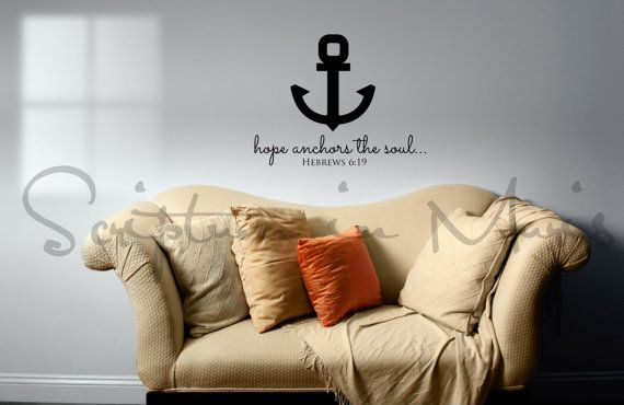 Hope Anchors the Soul Anchor and Hebrews 619 by ScriptumInMuris, $29.00