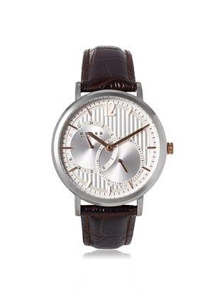 57% OFF Cross Men's CR8017-02 Avant Garde Brown/Silver Stainless Steel Watch