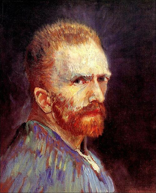 Self-Portrait, 1887-Vincent van Gogh.   I always love self portraits.