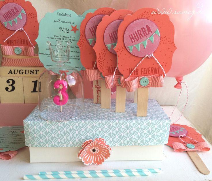 Einladung Zum Kindergeburtstag, Eis Am Stil Aus Papier, Handgemachte Einladung  Eis Am Stil,