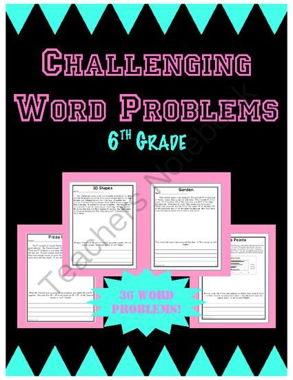 Challenging math problems for 5th graders
