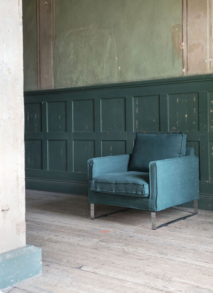 Green is the new black | IKEA Mellby armchair cover in Ivy Panama Cotton. www.bemz.com
