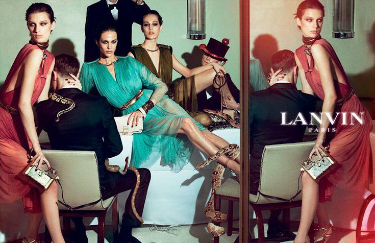 The #Lanvin ads are dangerously glamorous.  Love #AlberElbaz so much!  #StevenMeisel