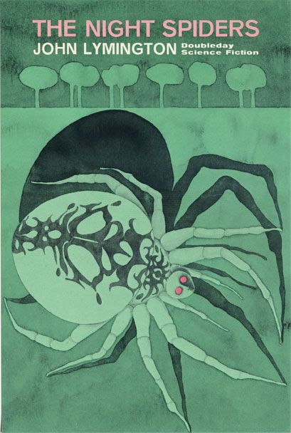Designed and illustrated by Emanuel Schongut (circa 1960s),  The Night Spiders by John Lymington