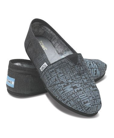 Take a look at this Charcoal Carpe Diem Classics - Men by TOMS on #zulily today!