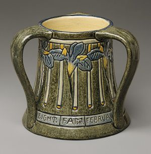 1908 - Designed and decorated by   Leona Nicholson   (American, 1875–1966);   Newcomb Pottery   Painted and glazed earthenware