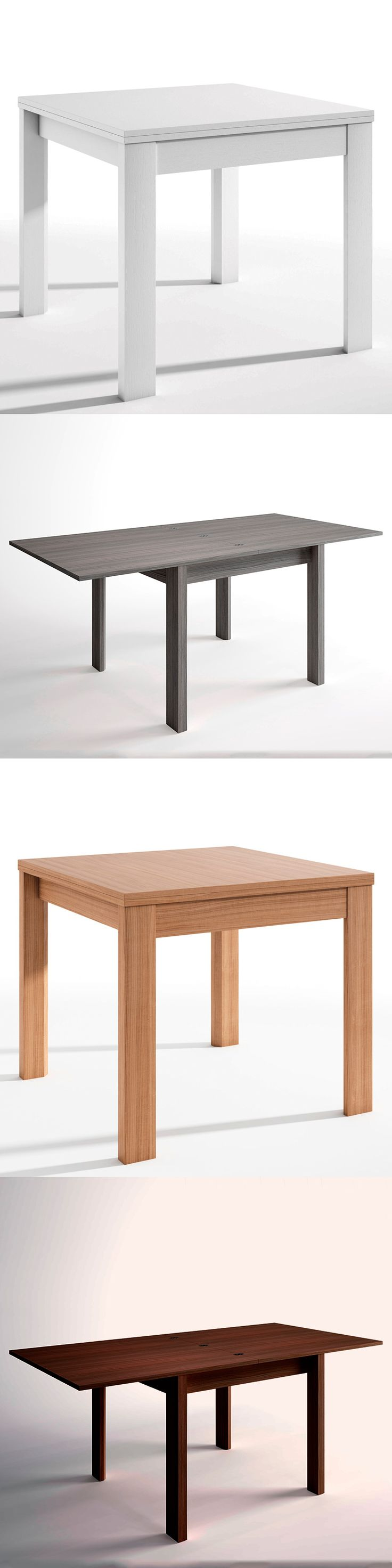 Mesa extensible Trend con extensión hasta el doble de su tamaño | 121.70€