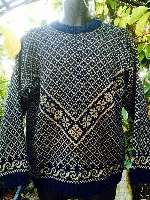 Fjord Norwegian wool sweater by A.S Evebofoss-size by VikingRaids